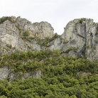 Picture - Seneca Rocks, popular with rock climbers in West Virginia.