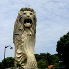 Picture - The Merlion statue on Sentosa.