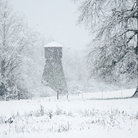 Picture - Snow covered water tower in Sequim.