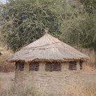 Picture - A Maasai Mara hut on the Serengeti.