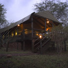 Picture - A safari camp in Serengeti National Park.