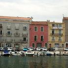 Picture - Buildings on the waterfront of Sete.