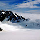 Picture - Snow covered Godwin Glacier, Seward.