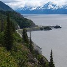 Picture - Seward Highway along Turnagain Arm.
