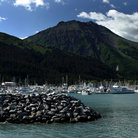 Picture - Waterfront and harbor in Seward.