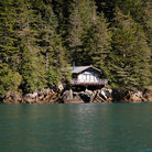 Picture - A cabin on Resurrection Bay.