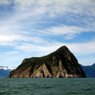 Picture - Rock island in Resurrection Bay.