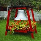 Picture - Firefighters bell on display in Seward.
