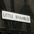 Picture - Street sign of Little Shambles in York.