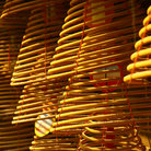 Picture - Incense spirals at a buddhist temple in Shenzhen.