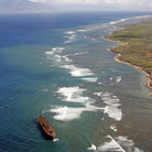 Picture - Aerial view over Shipwreck Beach on the  Island of Lanai.