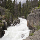 Picture - Crazy Creek in the Shoshone National Forest.