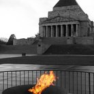 Picture - Eternal flame at the Shrine of Remembrance in Melbourne.