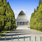 Picture - Front on the Shrine of Remembrance in Melbourne.