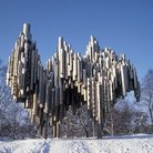 Picture - The Sibelius Memorial in Helsinki.