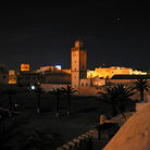Picture - Mosque tower at night in Essaouira.
