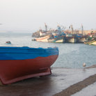 Picture - Boats at the port in Essaouria.