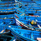 Picture - Fishing harbor at Essaouira.