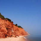 Picture - Orange cliffs at Sidmouth.