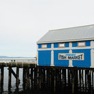 Picture - An ocean front fish market in Sidney.