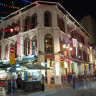 Picture - A night scene in Singapore Chinatown.