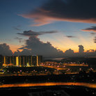 Picture - Day break over Singapore.