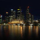 Picture - Night time in Singapore.