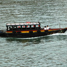 Picture - A bumboat in Singapore.