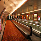 Picture - A moving walkway in a tunnel in Singapore.