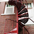 Picture - A spiral staircase at an old fire station in Singapore.
