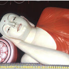 Picture - Sleeping Buddha of Sri Lankaramaya Buddhist Temple in Singapore.