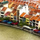 Picture - Waterfront buildings in Singapore.