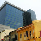 Picture - Old and new architecture in Singapore.