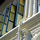 Picture - Detail of shutters on Singapore's shop houses.