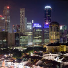 Picture - The city lights of Singapore.