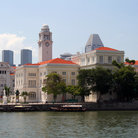 Picture - A scene from the waterfront in Singapore.