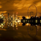 Picture - Night view of the Singapore waterfront.