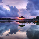 Picture - Sunset at Lower Pierce Reservoir in Singapore.