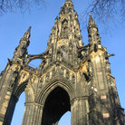 Picture - Arch of the Scott Monument in Edinburgh.