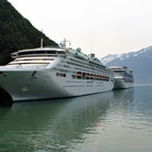 Picture - Cruise ships docked in Skagway.