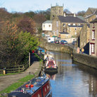 Picture - Canal boats in Skipton.