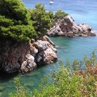 Picture - Stafylos bay at Skopelos.
