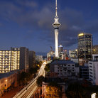 Picture - View of the Auckland skyline with the Sky Tower.