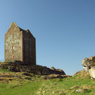 Picture - Blue sky over Smailholm Tower near Kelso.