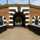 Picture - The arched entrance to the bastille in Terezin.