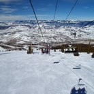 Picture - Chairlift and runs at the Snowmass ski hill.