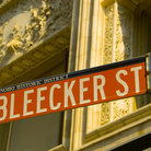 Picture - Bleecker Street Sign in SOHO District, New York.