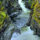 Picture - The river and gorge in Sooke Potholes Provincial Park.