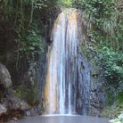 Picture - The tropical Diamond Falls at the Soufrière Estate.