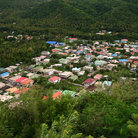 Picture - The town of Soufrière.